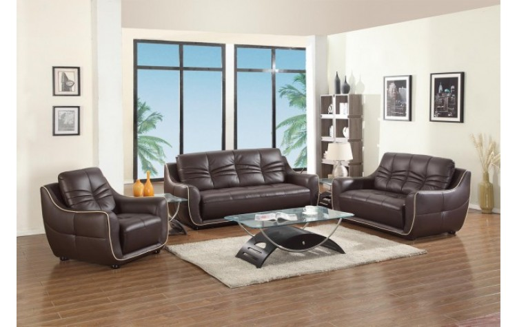 2088 - Brown Sofa Set