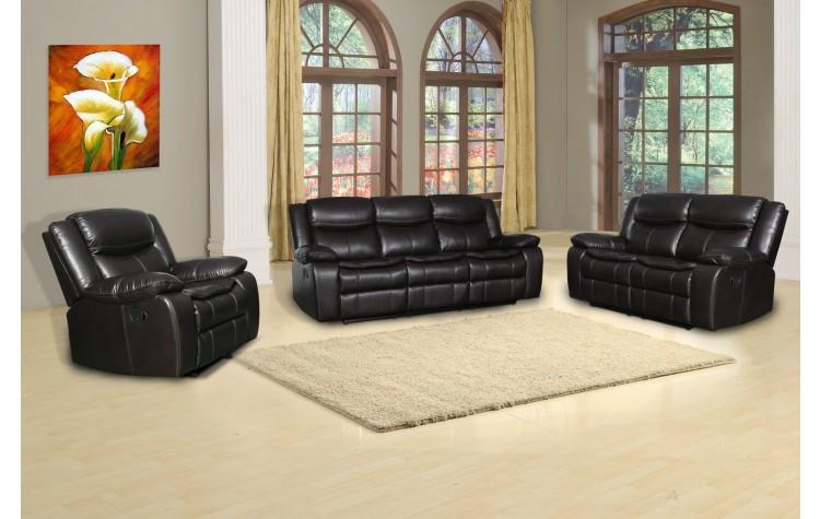 6967 - Brown Sofa Set