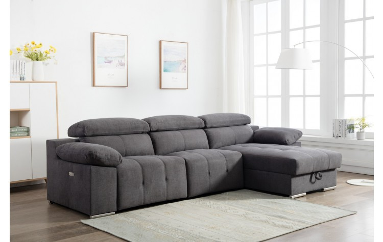 7306 - Gray Power Reclining RAF Sectional