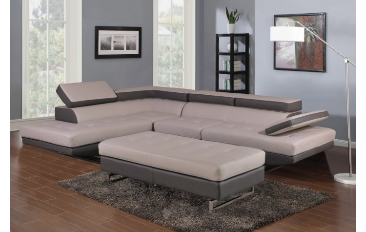 8136 - Two-Tone Sectional LAF