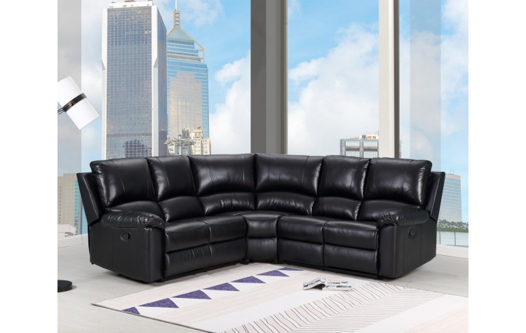 9241 - Black Power Reclining Sectional
