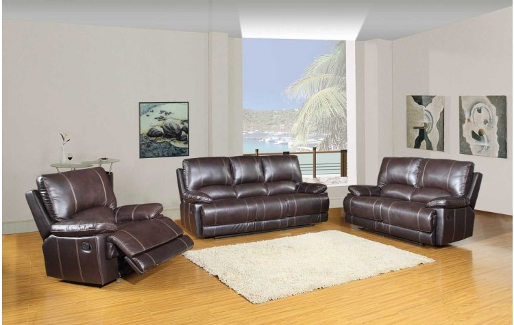 9345 - Brown Sofa Set