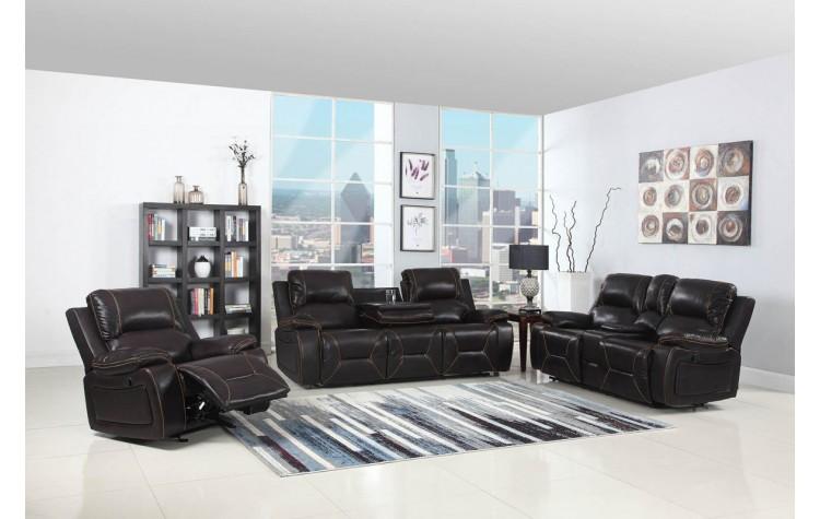 9422 - Brown Sofa Set