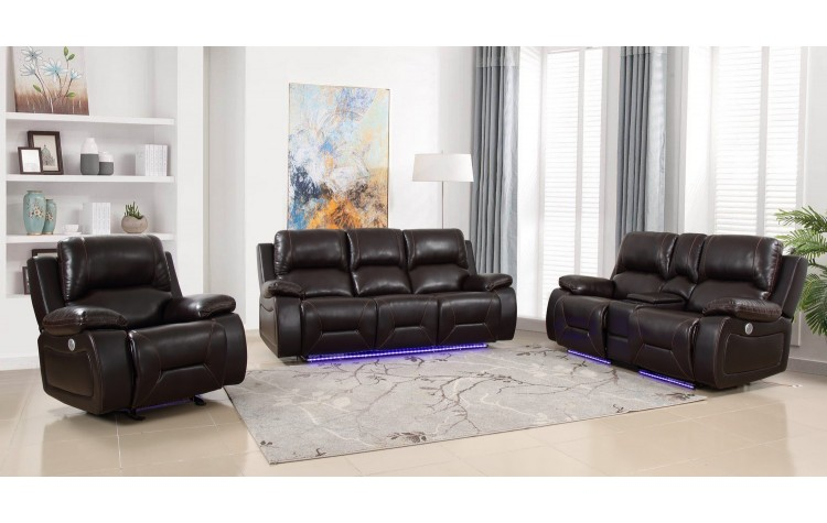 9422 - Brown Power Reclining Sofa Set