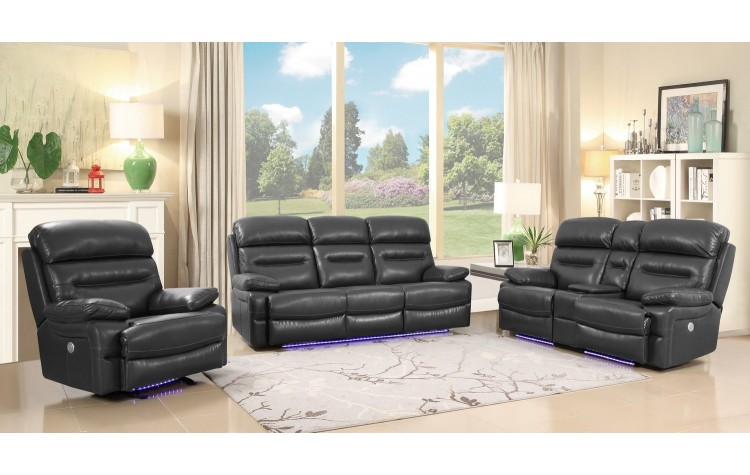 9442 - Gray Power Reclining Sofa Set