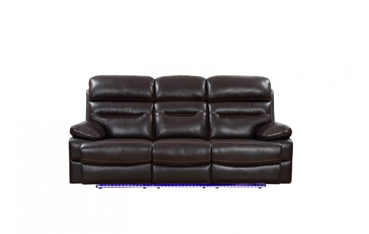 9442 - Brown Power Reclining Sofa