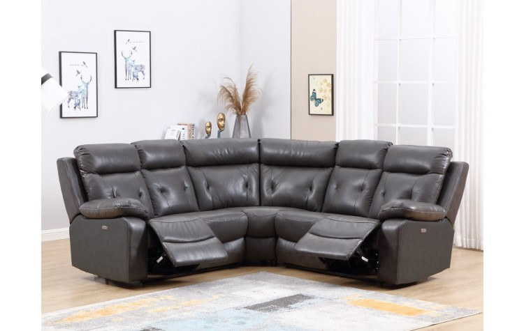 9443 - Dark Gray Sectional with Power Recliners