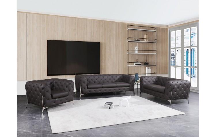 970 - Brown Sofa Set