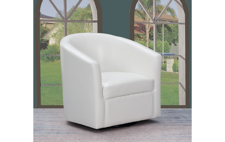 A25 - White Accent Chair