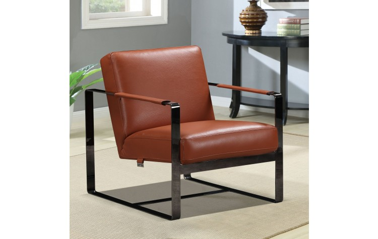 C67 - Camel Leather Accent Chair