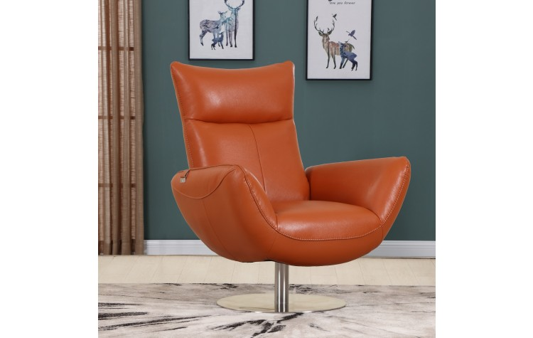 C74 - Orange Lounge Chair