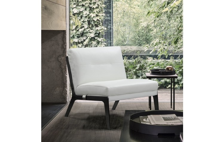 C81 - White Leather Accent Chair