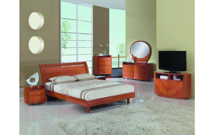 Cosmo - Cherry 4PC Bedroom Set