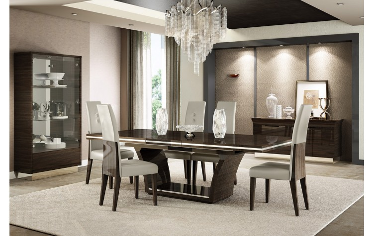 D832 - Wenge Dining Table and 6 Chair Set