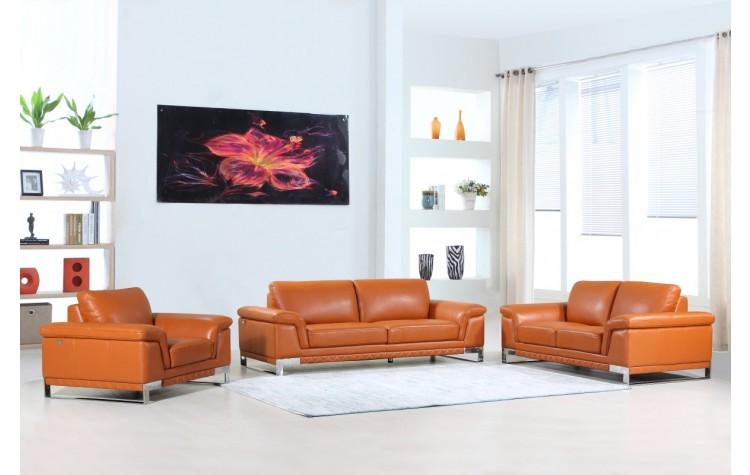 411 - Camel Sofa Set