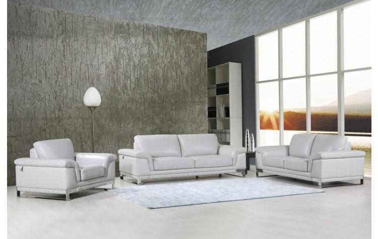 411 - Light Gray Sofa Set
