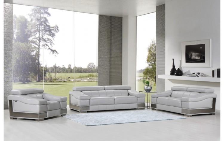 415 - Light Gray Sofa Set