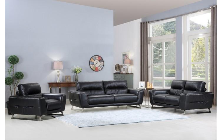 485 - Black Sofa Set