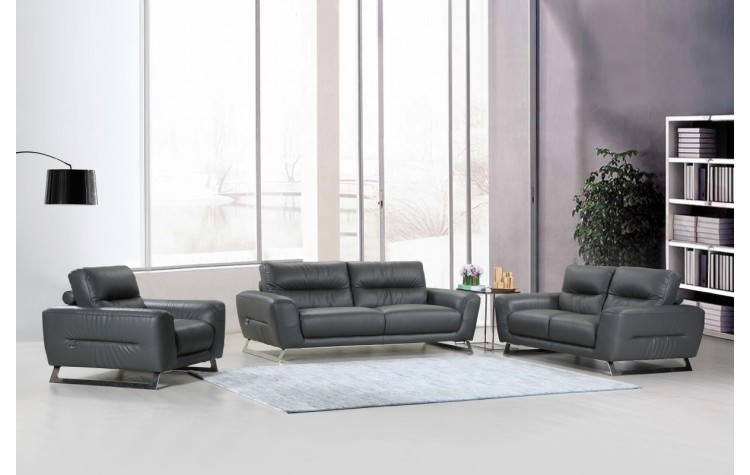 485 - Dark Gray Sofa Set