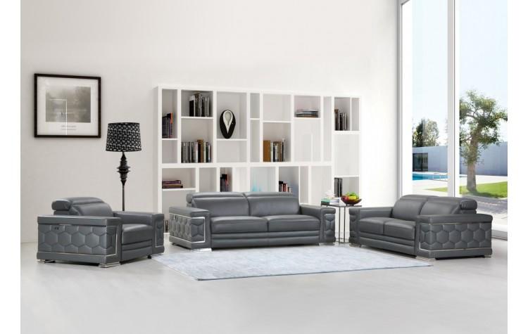 692 - Dark Gray Sofa Set