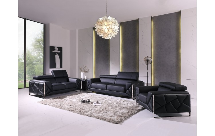 903 - Black Sofa Set