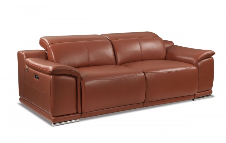 9762 - Camel Power Reclining Sofa
