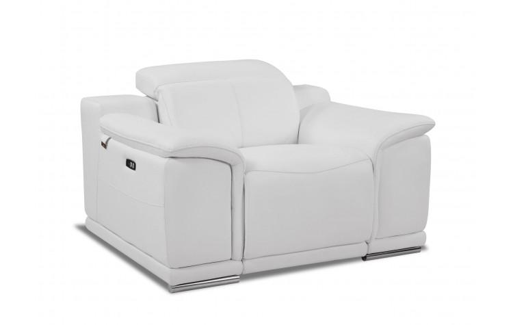 9762 - White Power Reclining Chair