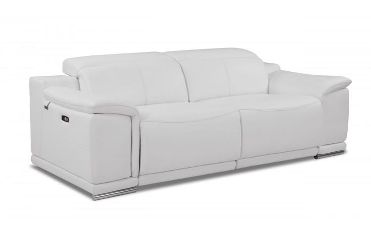 9762 - White Power Reclining Sofa