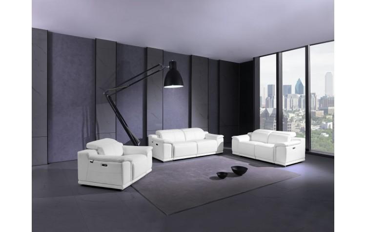 9762 - White Power Reclining Sofa Set