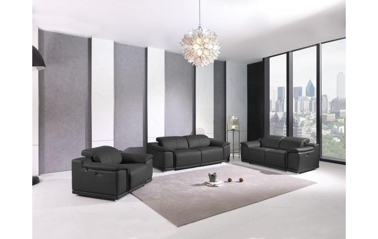 9762 - Dark Gray Power Reclining Sofa Set