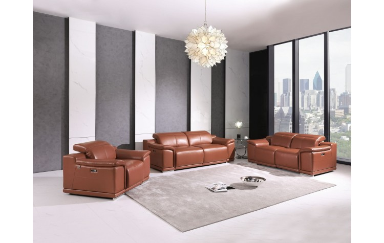 9762 - Camel Power Reclining Sofa Set