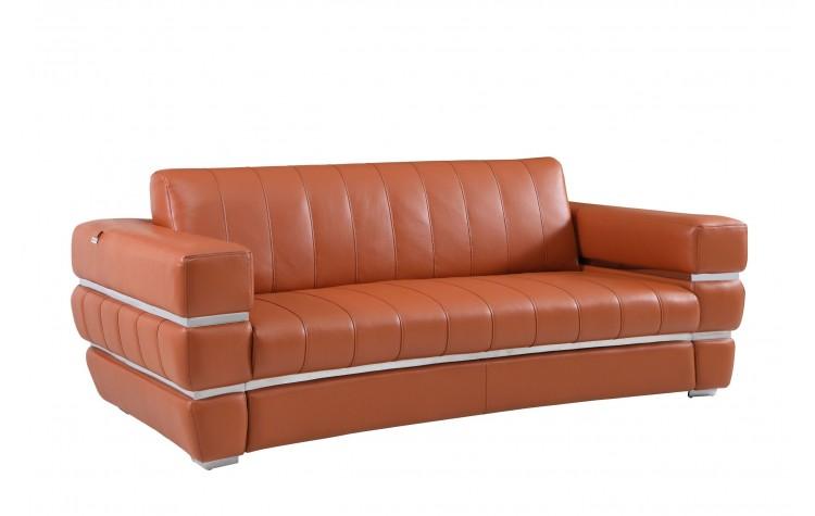 904 - Camel Italian Leather Sofa