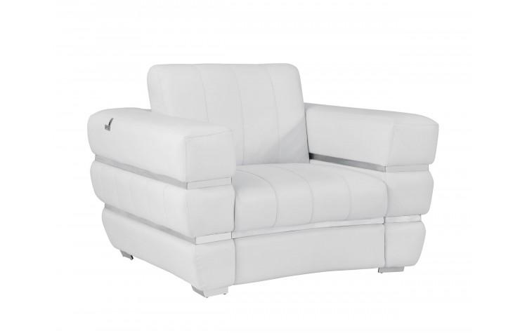 904 - White Italian Leather Chair