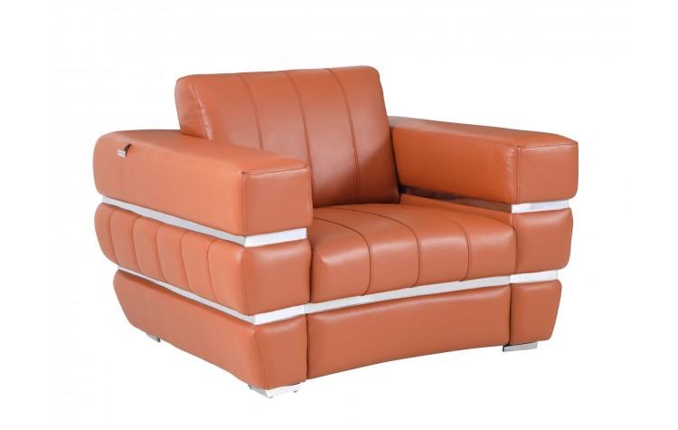 904 - Camel Italian Leather Chair