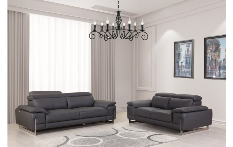 636 - Dark Gray Sofa Love