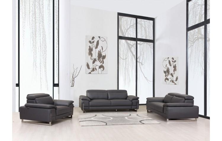 636 - Dark Gray Sofa Set