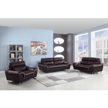 168 - Brown Sofa Set