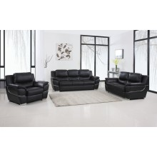 4572 - Black Sofa Set