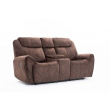 5008 - Brown Console Loveseat