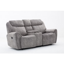 5008 - Gray Console Loveseat