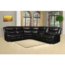 6967 - Brown Reclining Sectional