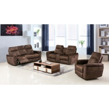 7071 - Dark Brown Sofa Set