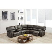 7096 - Gray Sectional