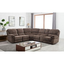 7098 - Brown Power Reclining Sectional