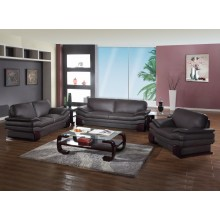 728 - Brown Sofa Set