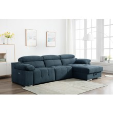 7306 - Blue Power Reclining RAF Sectional