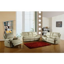 9345 - Beige Sofa Set with Console Loveseat