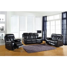 9361 - Black Sofa Set