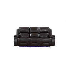 9422 - Brown Power Reclining Sofa