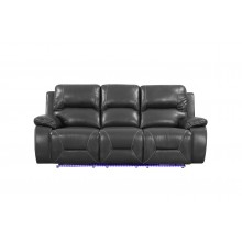 9422 - Gray Power Reclining Sofa